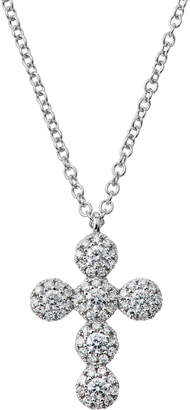 Neiman Marcus Diamonds 14k Diamond Cross Pendant Necklace, 0.25tcw