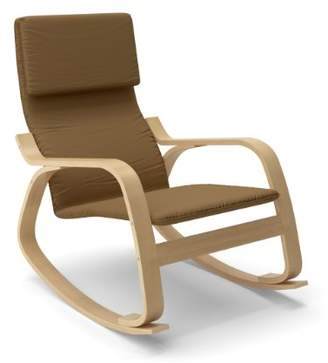 CORLIVING LAQ-625-C Aquios Bentwood Contemporary Rocking Chair