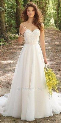 Camille La Vie Corset Organza Wedding Dress $850 thestylecure.com
