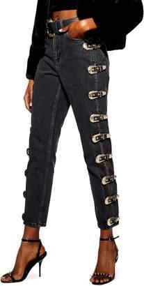 Topshop Side Buckle Mom Jeans