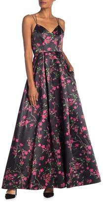 Alice + Olivia Marilla V-Neck Floral Maxi Dress