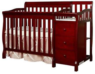 Dream On Me Jayden 4-in-1 Convertible Mini Crib and Changer Combo