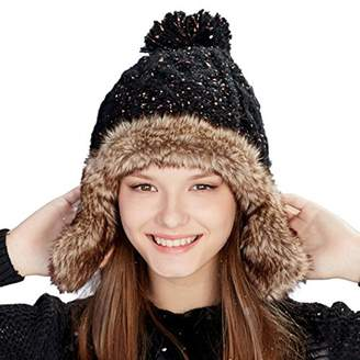 97e535a2cd8 ktt Winter Women Lady Girl Warm Outdoor Ski Hat Acrylic Earflap Faux Fur  Russian Cap