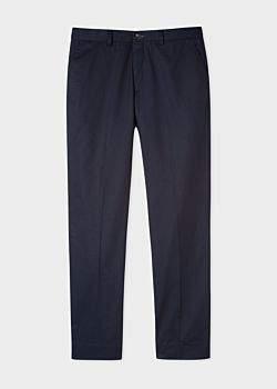 Paul Smith Men's Standard-Fit Dark Navy Organic Cotton Chinos