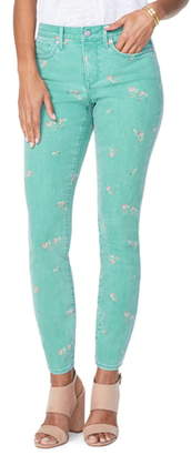 NYDJ Ami Floral Colored Stretch Skinny Jeans