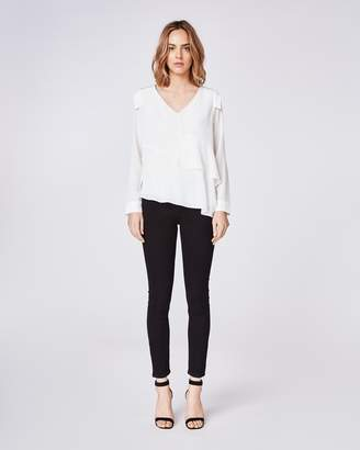 Nicole Miller Silk Asymmetrical Top