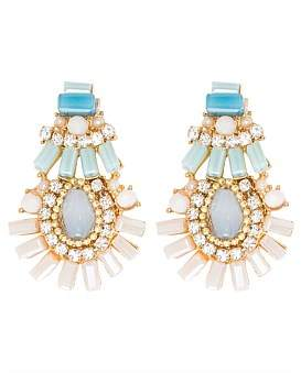 The Two Mrs Grenvilles Multi Stone Drop Earring