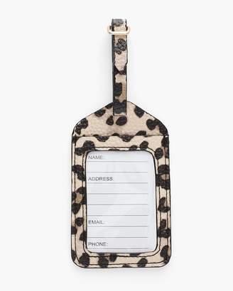 Leopard-Print Luggage Tag