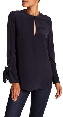 Equipment Sayer Tie Long Sleeve Silk Blouse