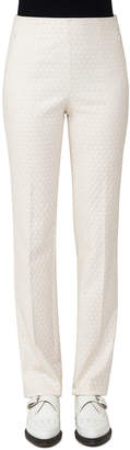 Akris Constance Jacquard Slim Pants, Off White