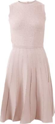 Oscar de la Renta Pleated Dress