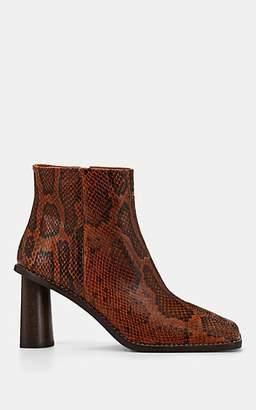 REJINA PYO Women's Alana Python-Embossed Leather Ankle Boots - Orange