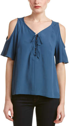 Nanette Lepore Cold-Shoulder Top