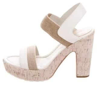 Donald J Pliner Canvas Platform Sandals w/ Tags