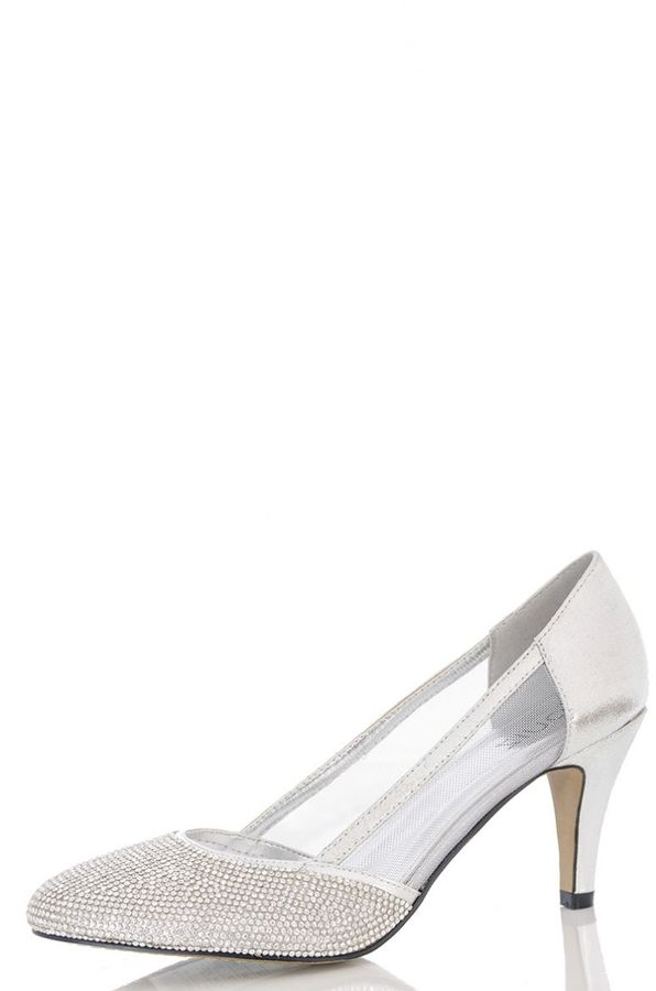 Silver Low Heels Shoes - ShopStyle Australia