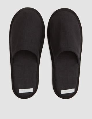 Fog Linen Linen Slippers in Graphite - Large