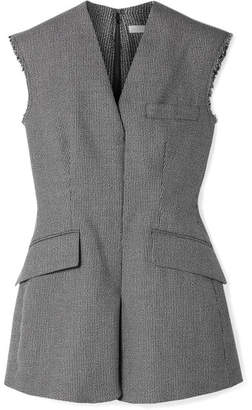Stella McCartney Frayed Wool And Cotton-blend Vest - Black