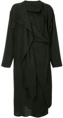 Lemaire checked cape dress
