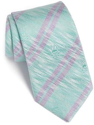 Psycho Bunny Double Stripe Silk Tie