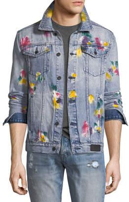 PRPS Multicolored Painted Denim Jacket
