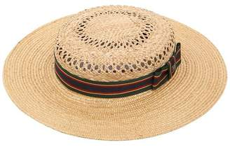 Michelle Straw Boater Hat
