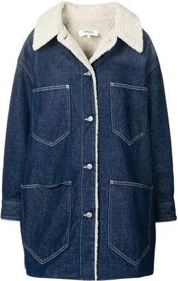 MM6 MAISON MARGIELA denim fitted coat