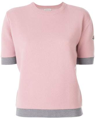 Moncler contrast trim knitted top