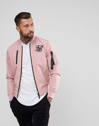 SikSilk Bomber Jacket In Pink