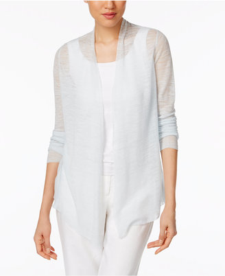 Eileen Fisher Sheer Open-Front Cardigan $248 thestylecure.com
