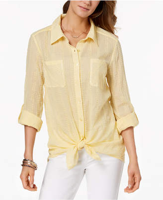 Style&Co. Style & Co Tie-Front Shirt, Created for Macy's