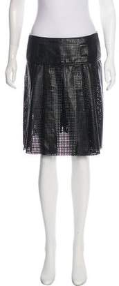 Proenza Schouler Leather Perforated Skirt