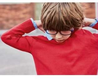 Boys Red Knitted V-Neck Jumper (3-16yrs) - Red