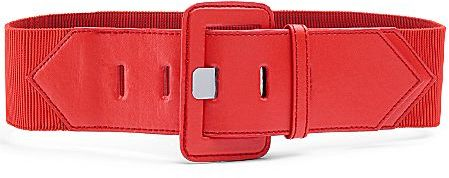 MNG by Mango® Wide Elastic Belt Red