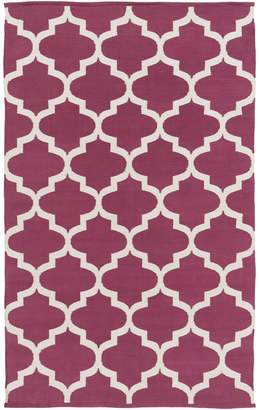 Artistic Weavers AWLT3006-58 Vogue Everly Rectangle Flat Woven Area Rug, Maroon - 5 x 8 ft.