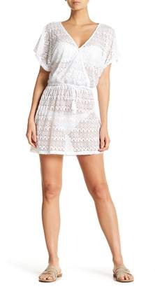 Hawaiian Tropic Tropical Rainforest Crochet Cover Up Dress