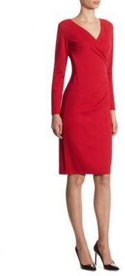Armani Collezioni Ruched Solid Dress $775 thestylecure.com