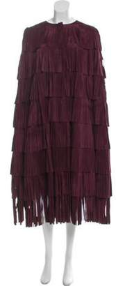 Burberry Suede Fringed Cape w/ Tags Suede Fringed Cape w/ Tags