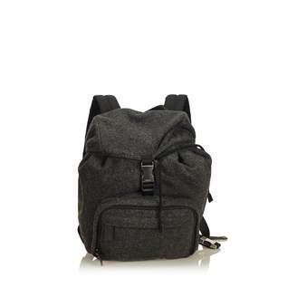 Prada Grey Wool Backpacks