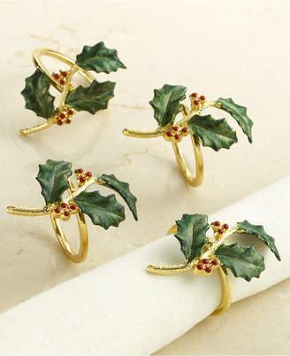 Lenox Set of 4 Holiday Napkin Rings