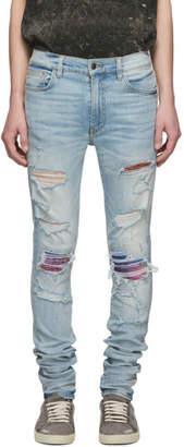 Amiri Indigo Rainbow Bandana Jeans