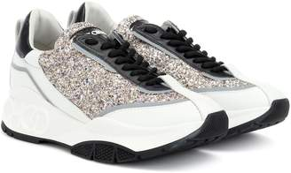 1a186b2c8f3 Jimmy Choo Glitter Sneakers - ShopStyle UK