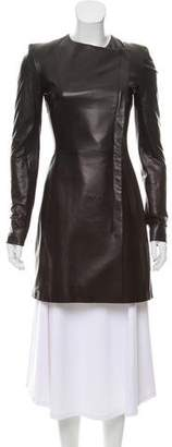 The Row Leather Short Coat