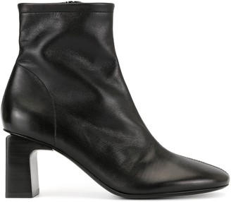 BY FAR Vasi Black Leather Boots