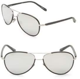 7481dd05808e Linda Farrow 60MM Snakeskin Arm Aviator Sunglasses