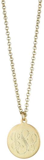 Danielle Stevens Gold Round Monogram Necklace