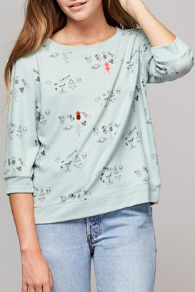 All Things Fabulous Mint Green Doodle Sweater $135 thestylecure.com