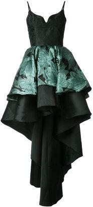 layered high-low hem dress