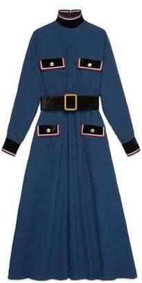 Gucci Cotton dress with velvet details