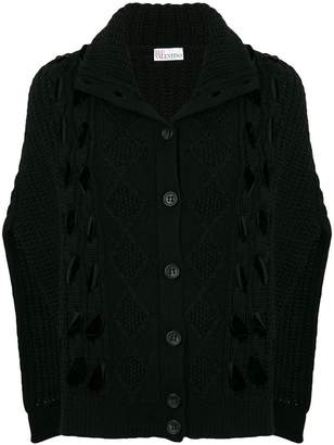 RED Valentino knitted cape cardigan