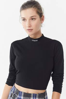 Urban Outfitters NVRMIND Mock-Neck Cropped Top